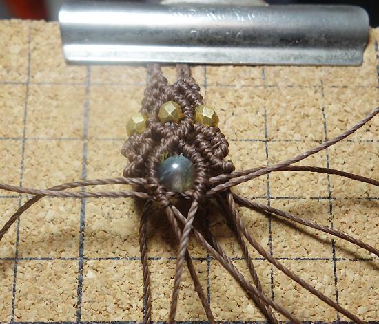 マクラメ編み ネックレスエンド(先端)デザイン レシピ