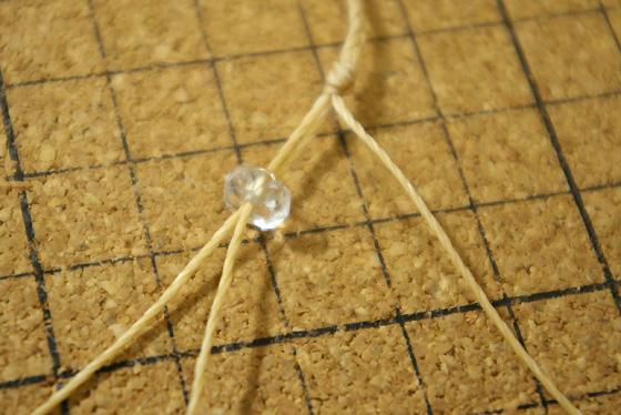 マクラメ編みブレス 先端部分