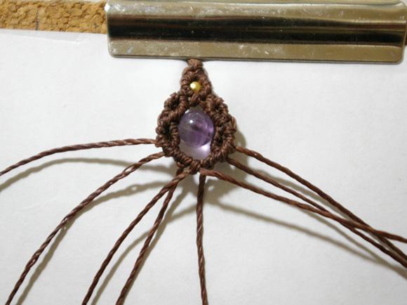 マクラメ編みレシピ 四つ編みネックレス作り方