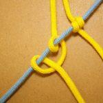 マクラメ編みレシピ ななめ巻き結び
