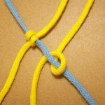 マクラメ編みレシピ ななめ巻き結び【左上から右下へ】