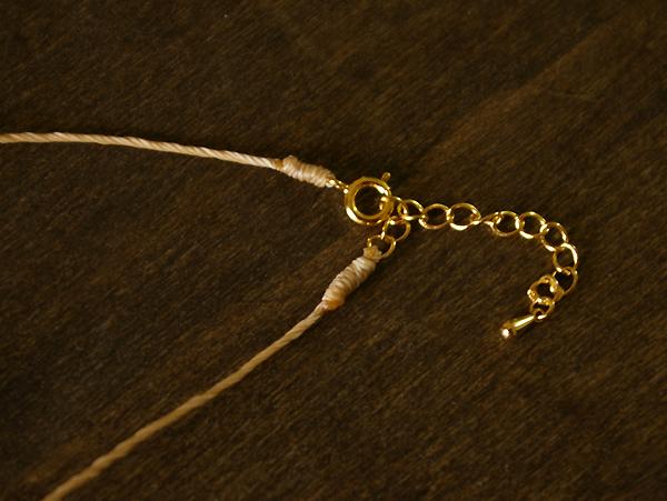 しずく型 ローズクォーツ 1粒ネックレス