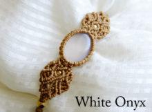 ホワイトオニキス マクラメ編みブレスレット